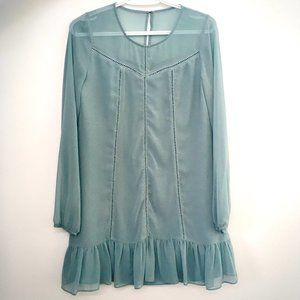 BCBGeneration Teal Long Sleeved Dress